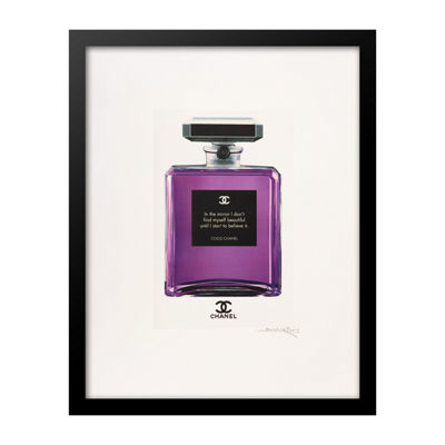 Fairchild Paris Purple Chanel No. 5 Beautiful Quote Framed Wall Art
