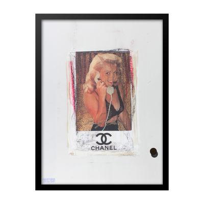 Fairchild Paris Marilyn Monroe Chanel Ad (729) Framed Wall Art