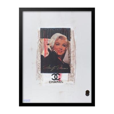 Fairchild Paris Marilyn Monroe Chanel Ad (737) Framed Wall Art