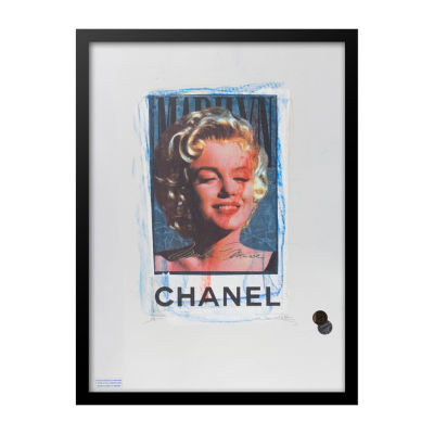 Fairchild Paris Marilyn Monroe Chanel Ad (746) Framed Wall Art