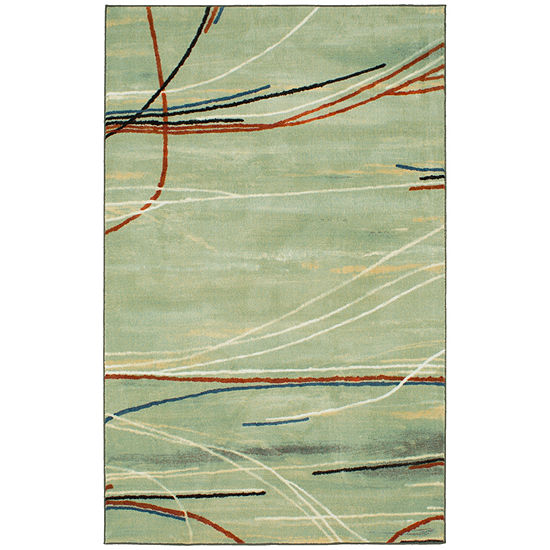 Mohawk Home Aurora Broken Stripe Rectangular Indoor Rugs