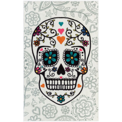 Mohawk Home Aurora Sugar Skull Rectangular Rugs