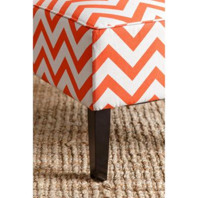 Devon & Claire Chevron Fabric Slipper Chair
