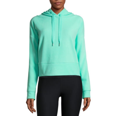 Xersion Brushed Fleece Cropped Hoodie
