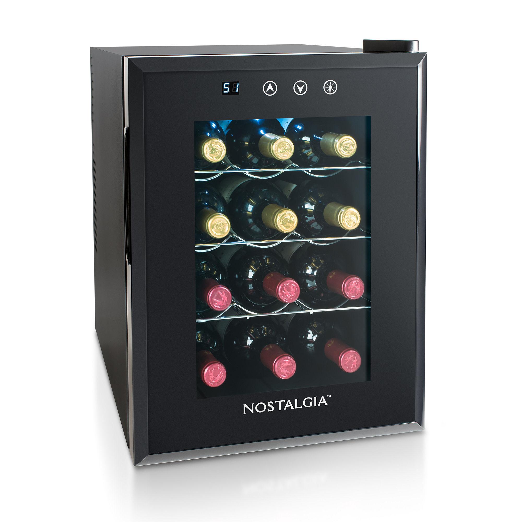 Nostalgia 12 Wine Bottles Wine Cooler - WC12BK