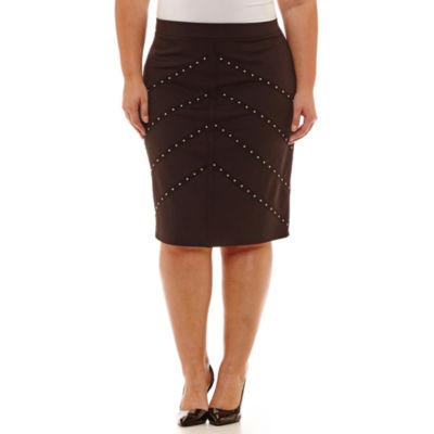 Bold Elements Pencil Skirt - Plus