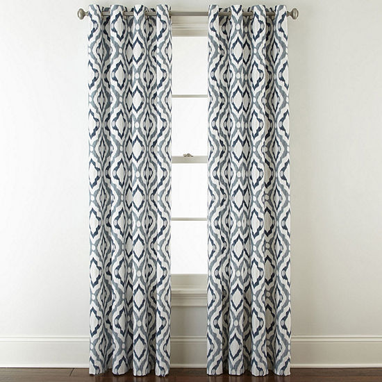JCPenney Home Truman Light-Filtering Grommet-Top Single Curtain Panel
