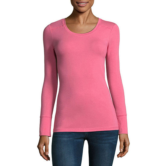 d3f840d612f6e ana Long Sleeve Crew Neck T Shirt Womens JCPenney