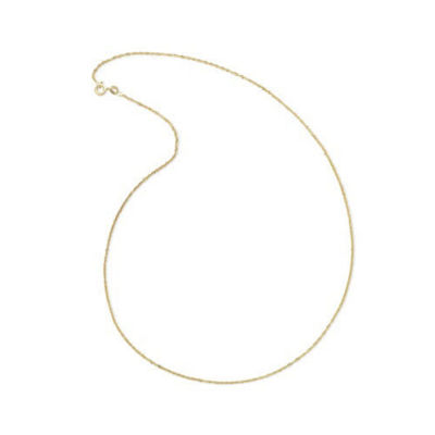"Made In Italy 14K Yellow Gold 18"" Singapore Chain Necklace"
