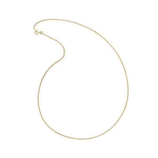 """Made In Italy 14K Yellow Gold 18"""" Singapore Chain Necklace"""