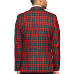Stafford Tartan Red Green Classic Fit Sport Coat - Big and Tall