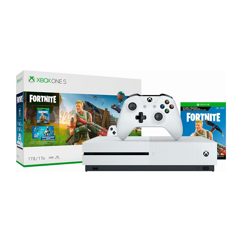 Microsoft Xbox One S 1TB Fortnite Bundle with 4K Ultra HD Blu-ray