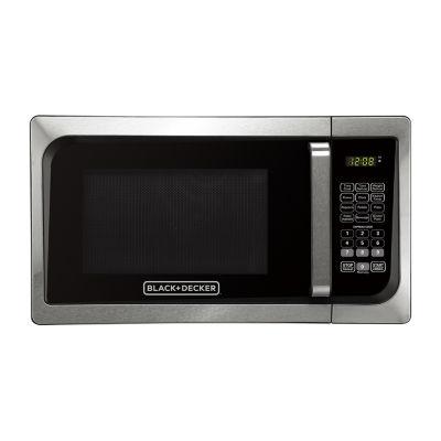 Black & Decker EM925AJK-P1 0.9 Cu. Ft. Digital Microwave, Pull handle
