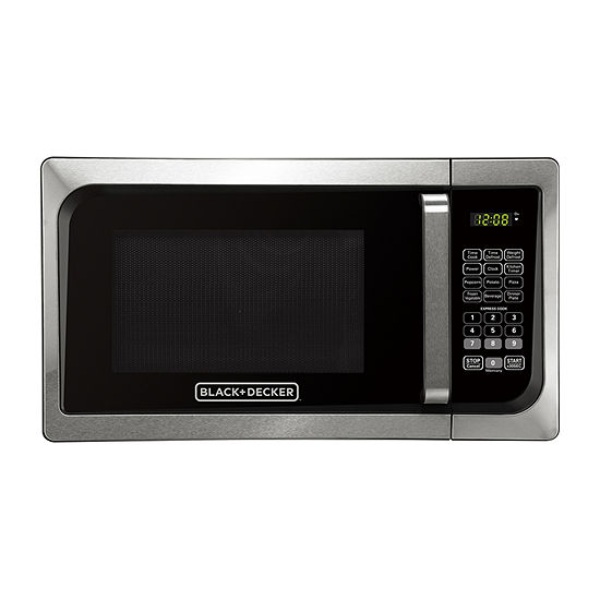 Black+Decker™ EM925AJK-P1 0.9 Cu. Ft. Digital Microwave, Pull handle