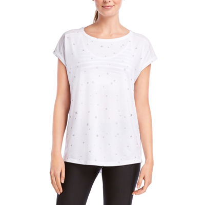 Jockey Fall 2018 Short Sleeve Round Neck Star T-Shirt-Womens