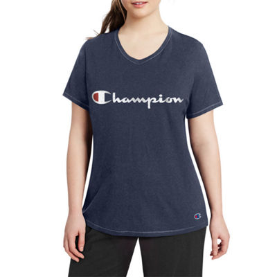 Champion Short Sleeve V Neck T-Shirt - Plus