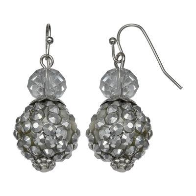 Mixit Silve Fireball Double Drop Earrings