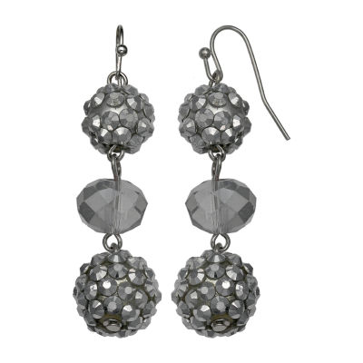 Mixit Silver Fireball Triple Drop Earrings