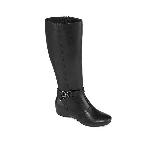 Yuu Womens Tasha Wide Calf Dress Boots