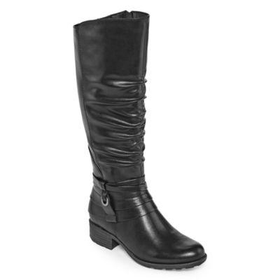 Yuu Womens Ponder Wide Calf Riding Boots