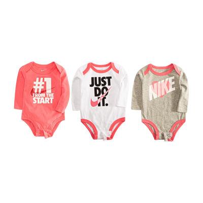 Nike F18 Nb Sets Ecom 3-pc. Bodysuit Set-Baby Girls