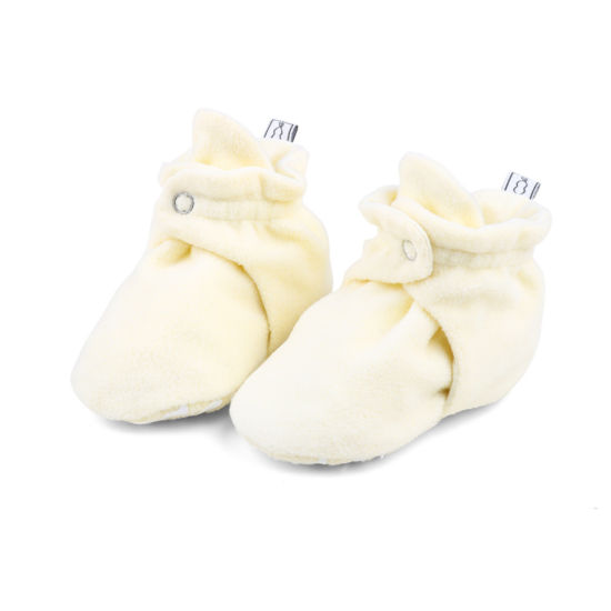 The Peanut Shell Fleece Booties Unisex Slip-On Shoes