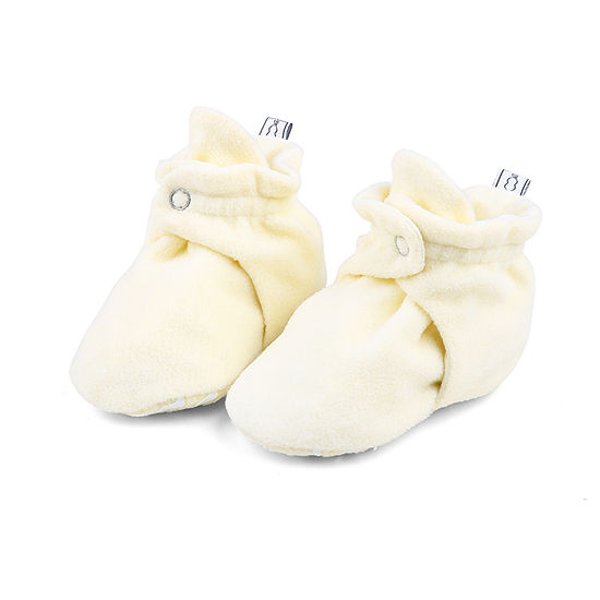 The Peanut Shell Unisex Fleece Booties Crib Shoes
