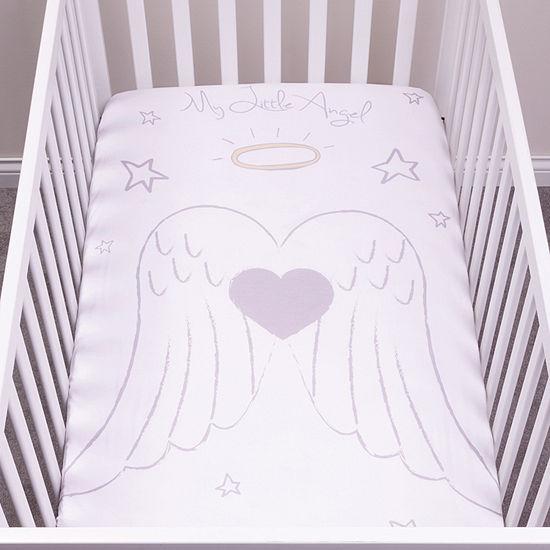 Trend Lab Angel Flannel Photo Op Crib Sheet Crib Sheet