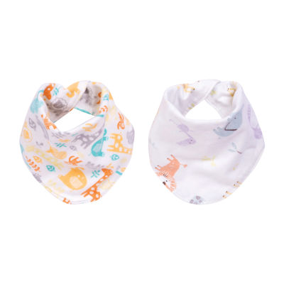 Trend Lab Mint Jungle 2 Pack  Flannel Bandana Bib Boys 2-pc. Bib