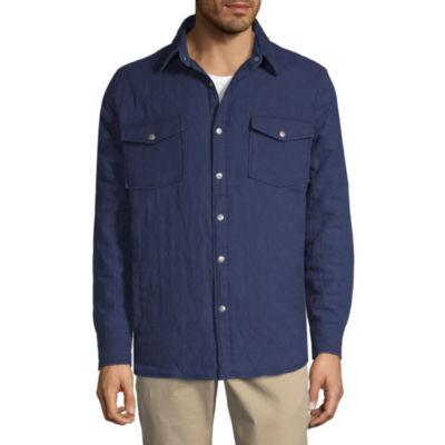 St. John's Bay Woven Lightweight Shirt Jacket