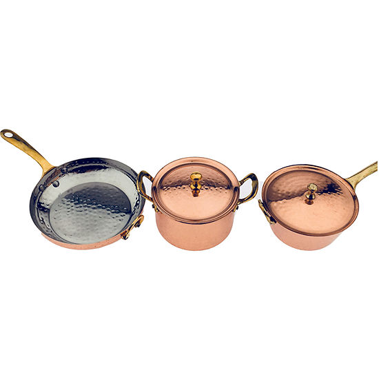 Denmark Hammered 5-pc. Copper Cookware Set