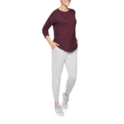 Xersion Womens Crew Neck Long Sleeve Tunic Top
