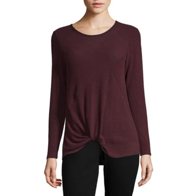 Alyx Womens Round Neck Long Sleeve Pullover Sweater