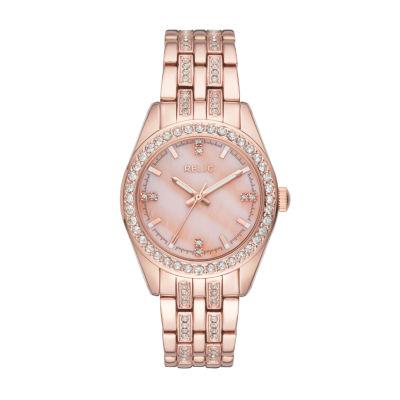 Relic Womens Rose Goldtone Bracelet Watch-Zr34421