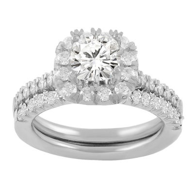 Womens 1 3/8 CT. T.W. White Diamond 14K White Gold Bridal Set