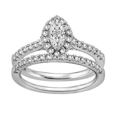 Womens 5/8 CT. T.W. White Diamond 14K White Gold Bridal Set