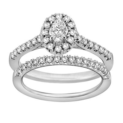 Womens 5/8 CT. T.W. White Diamond 14K White Gold Bridal Set