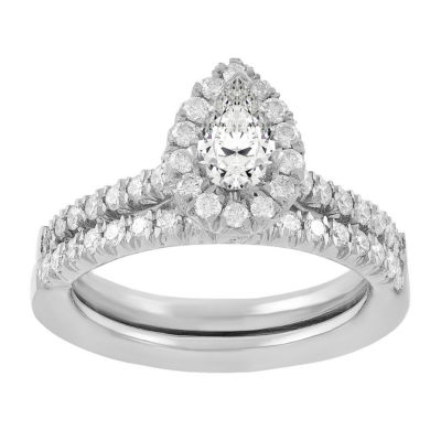 Womens 3/4 CT. T.W. White Diamond 14K White Gold Bridal Set