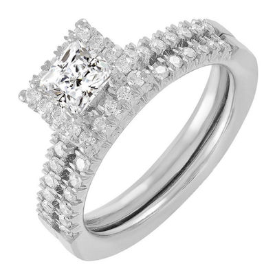 Womens 7/8 CT. T.W. White Diamond 14K White Gold Bridal Set