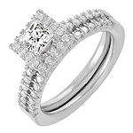 Womens 7/8 CT. T.W. Genuine White Diamond 14K White Gold Bridal Set