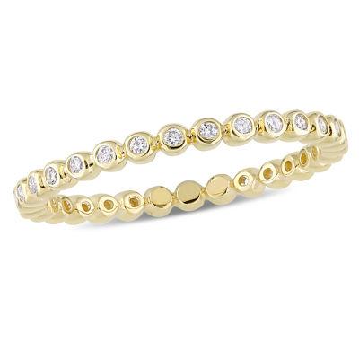 Womens 1/4 CT. T.W. Genuine White Diamond 10K Gold Eternity Band