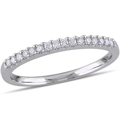 Womens 1/7 CT. T.W. Genuine White Diamond Sterling Silver Anniversary Band