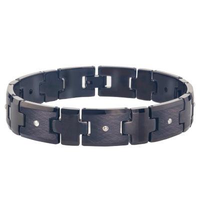 Tungsten 8 1/2 Inch Solid Link Bracelet