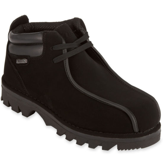 Lugz Mens Lace Up Work Boots Slip-on