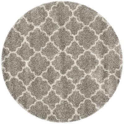Safavieh Hudson Shag Collection Synthia Geometric Round Area Rug