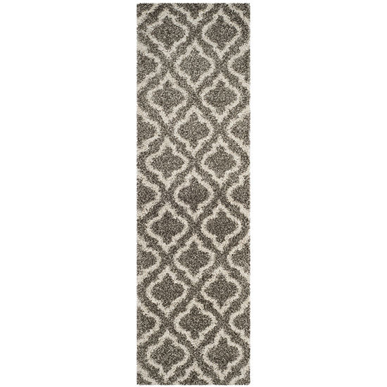 Safavieh Hudson Shag Collection Toireasa Geometric Runner Rug