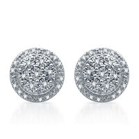 JCPenney deals on 1/10 CT. T.W. Genuine Diamond 9.3 mm Stud Earrings