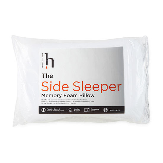 Home Expressions Side Sleeper Medium Density Memory Foam Pillow