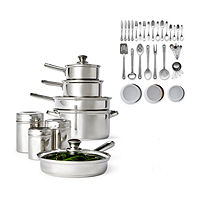 52-Pieces Cooks Stainless Steel Cookware Set