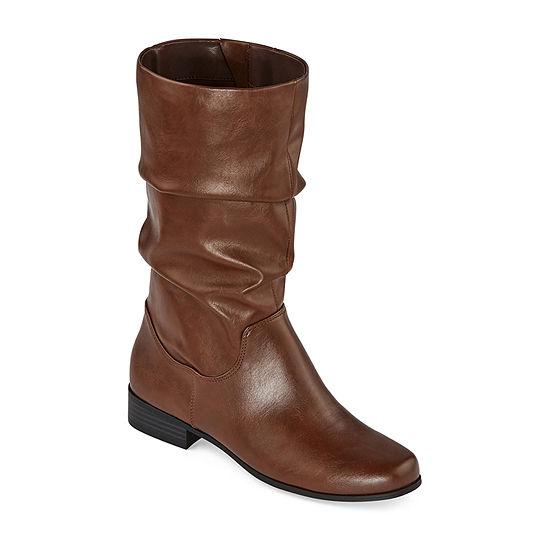 east 5th Womens Jarrett Slouch Block Heel Boots
